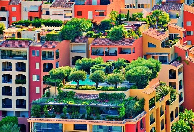сад на крыше зелень деревья