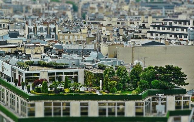 терраса на крыше сад