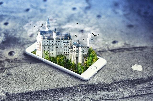 смартфон изображение замок