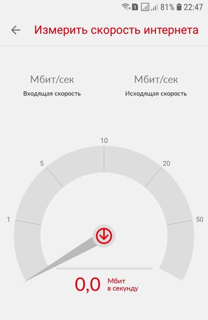 скорость интернета мтс