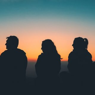 закат пейзаж друзья путешествия