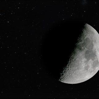 луна космос ночь вселенная тёмный