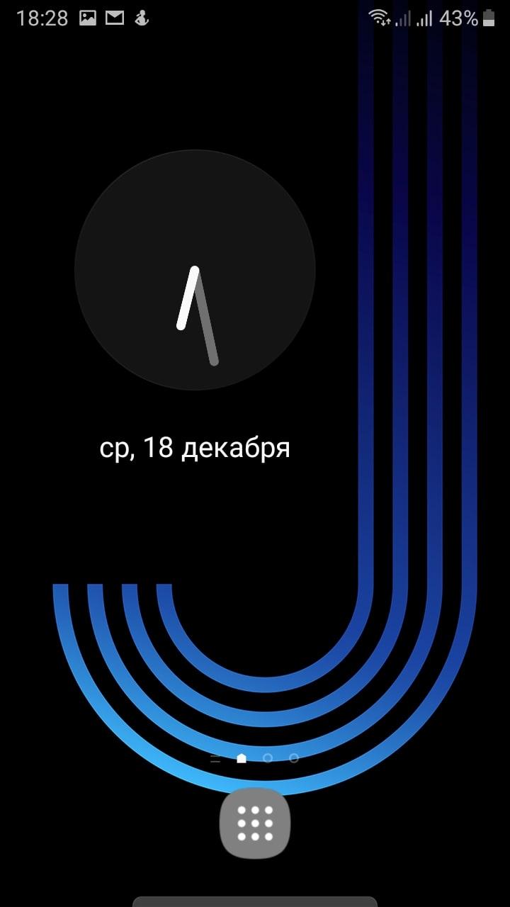 смартфон часы экран